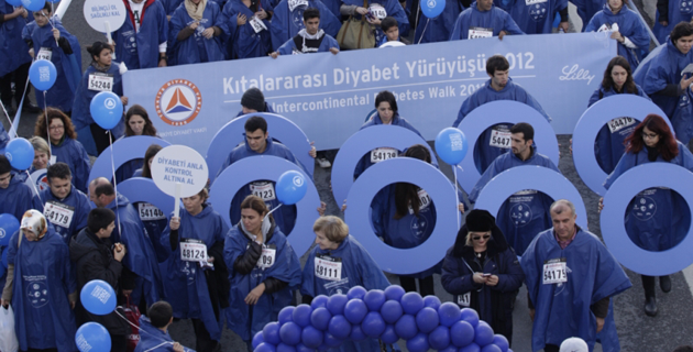 Diyabet farkındalığı için kıtalararası yürüdüler